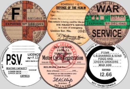 Reproduction Replica Gb Road Tax Discs